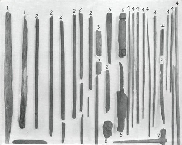 Precontact Beothuk likely hunted caribou with bows and arrows and roasted fresh meat over an open fire.