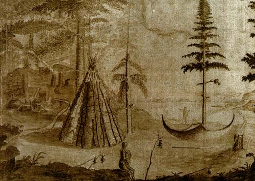 "This drawing is from John Cartwright's map, ""A sketch of The River Exploits and The east end of Lieutenant's Lake in Newfoundland"" (ca. 1773)."