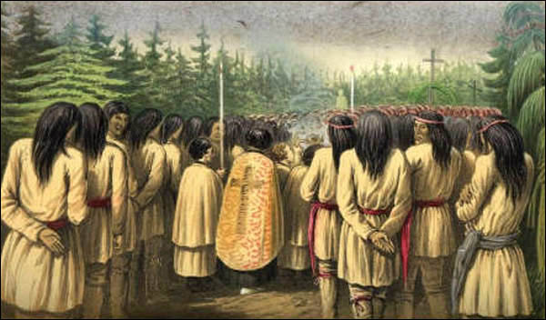 RC missionaries  in the 1800s helped marginalize the Innu's religious beliefs.