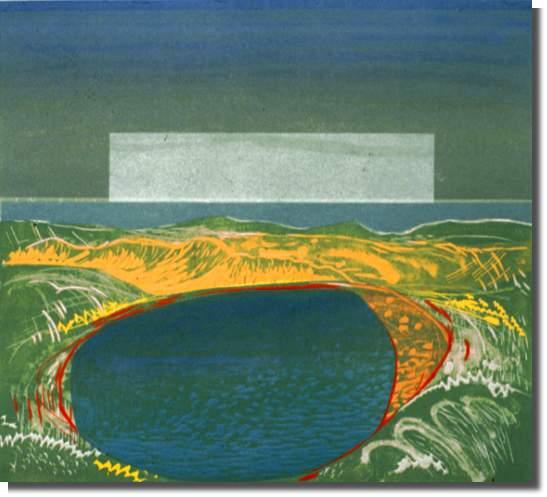 1982 Linoleum Block, 4/30 45.5 x 51.2 cm