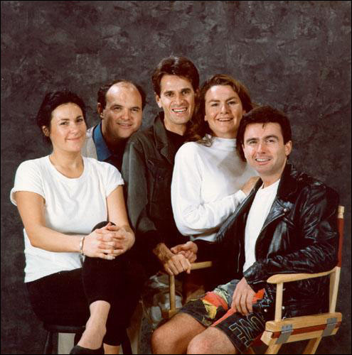 Many individuals associated with the NTTC went on to form or join other theatre companies in Newfoundland, including (L-R) Cathy Jones, Andy Jones, Greg Malone, Mary Walsh and Tommy Sexton, who became members of Codco.