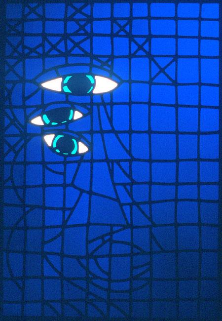 1989 Stained Glass 73.5 x 53 cm