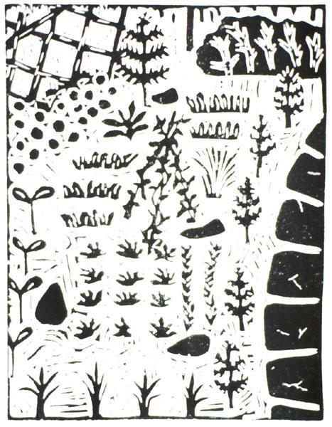 1994 Linocut 16.3 x 12.4 cm