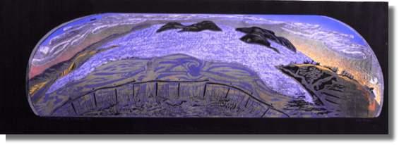 Unknown Date Woodblock Print, 5/10 28.7 x 101.5 cm