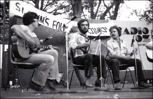 Newfoundland musicians performing at the Newfoundland and Labrador Folk Festival, Bannerman Park, St. John's, 1979.