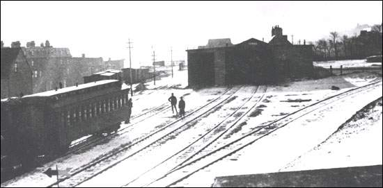 This train station was destroyed by fire on March 31, 1900 and a new station was built at Riverhead.