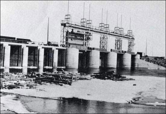 This is the first hydro-generating station in Labrador, built in 1954 to meet the needs of the iron-ore mine in Schefferville, Quebec.