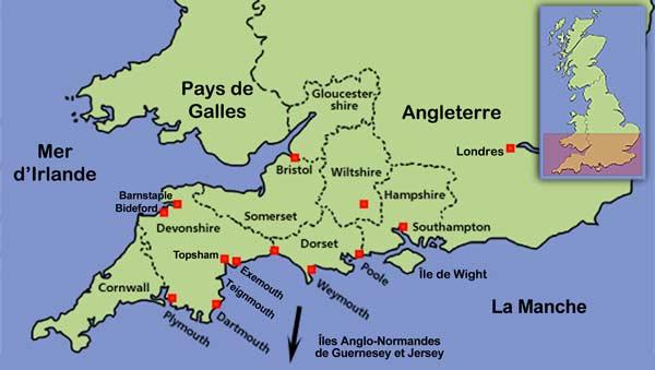 Carte Angleterre Cote Sud.Archeologie De La Peche Migratoire