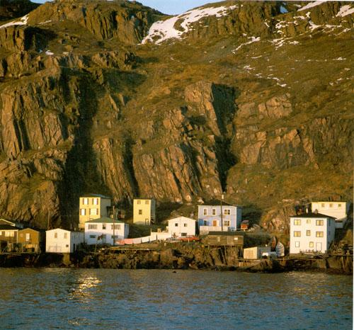 Situated below the steep slopes of Signal Hill in St. John's, the Battery, a small fishing community, has been the site of several fatal avalanches and rockfalls.