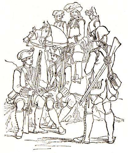 The British army did not practice a regular system of rotation or relief and, as a result, the quality of the soldiers was poor.