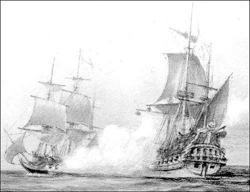 During times of war, the fisheries and the trade were threatened by enemy warships and privateers.