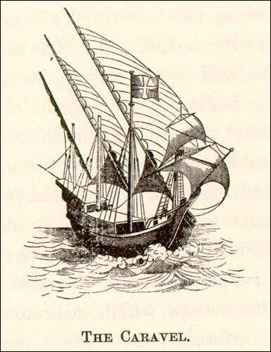 The Portuguese mariners used caravels, relatively long and narrow vessels with triangular lanteen sails, for their North Atlantic explorations in the 16th century.