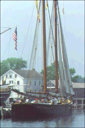 This photograph of the Ernestina comes from one of 12 colour slides of the vessel in Archives and Special Collections at Memorial University of Newfoundland.