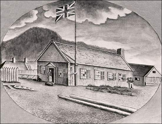 From the logbook of H.M.S.Pegasus. Plans for Fort Frederick were approved in 1715 and construction began in 1717.