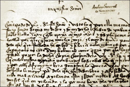 This letter was written by the English merchant John Day to an unidentified Spanish 'Lord Grand Admiral' who is believed to have been Christopher Columbus.