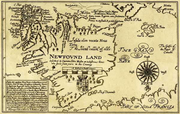 Early Cartography Of Newfoundland And Labrador - Map of newfoundland