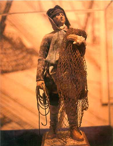 This model of a Basque Fisherman is located at the Castle Hill Interpretation Centre in Placentia.