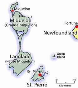 Pierre Et Miquelon - Saint pierre and miquelon map