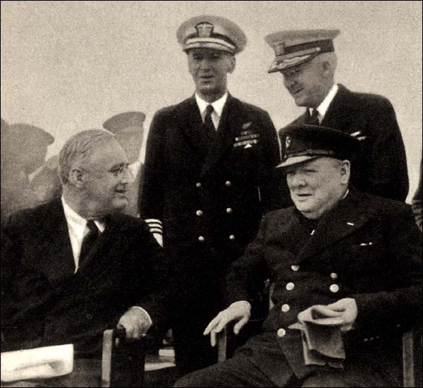 During the Second World War, American President Franklin Roosevelt agreed to supply Britain with 50 destroyers.