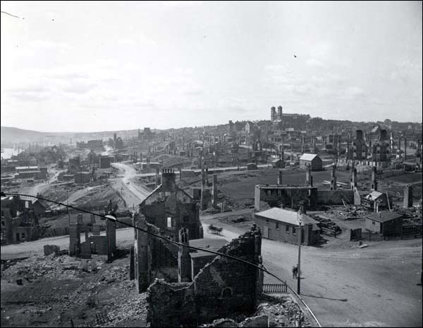 View of St. John's from Duckworth Street east following the Great Fire of 1892.