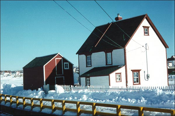 Adam Mouland Property is a good example of the way in which outport builders in Bonavista interpreted the gable-roofed house style.