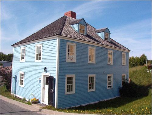 Anderson House is a rare example of a hip-roofed structure, a style that was common in St. John's in the late 18th and early 19th centuries.