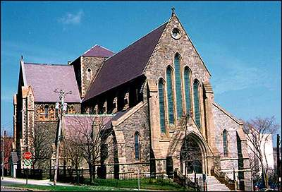 The Anglican Church was inspired by Gothic Revival architecture.