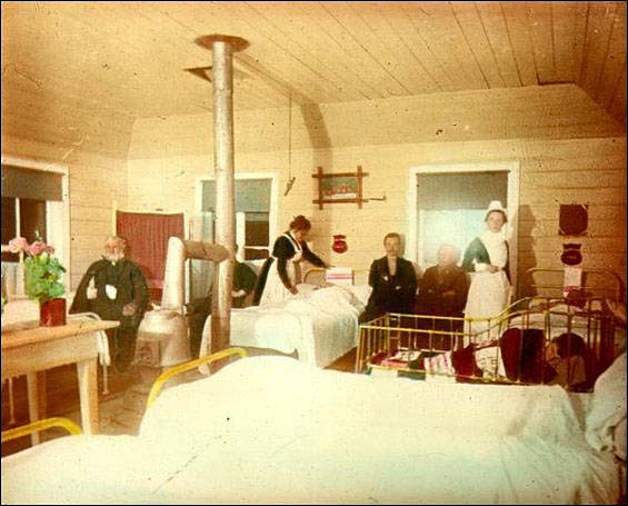 The Grenfell Mission established its first Labrador hospital at Battle Harbour in 1893.