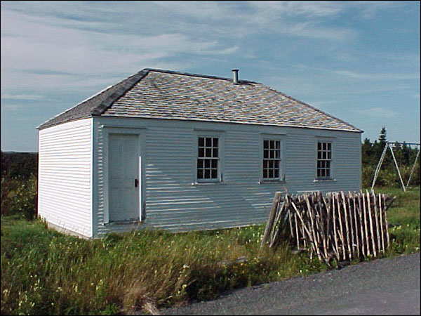 Built around 1820, this school house, located in Mosquito (now Bristol's Hope), is an example of what wooden schools in outport communities looked like in the 1800s.
