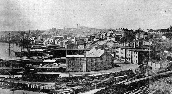 Looking west from the east end of St. John's before the Great Fire of 1892.