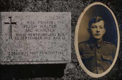Private Hugh Walter McWhirter