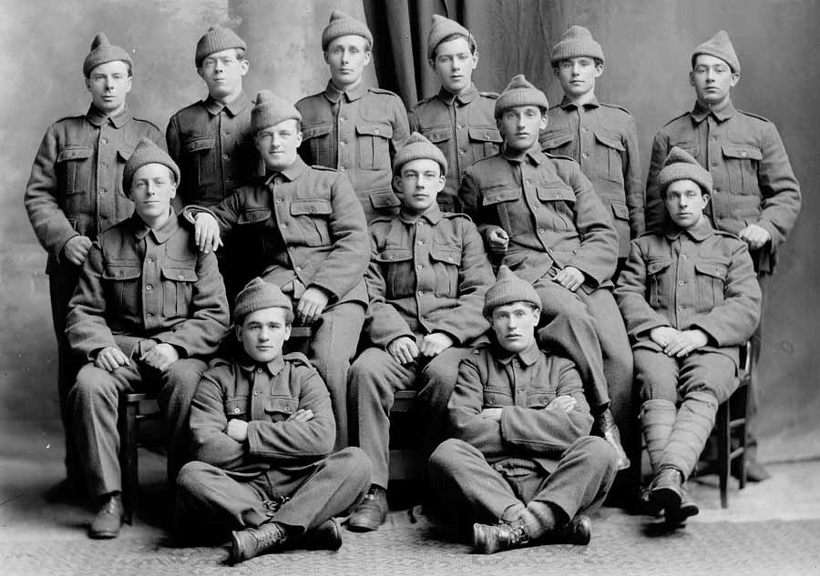 Group Photos Royal Newfoundland Regiment In The First