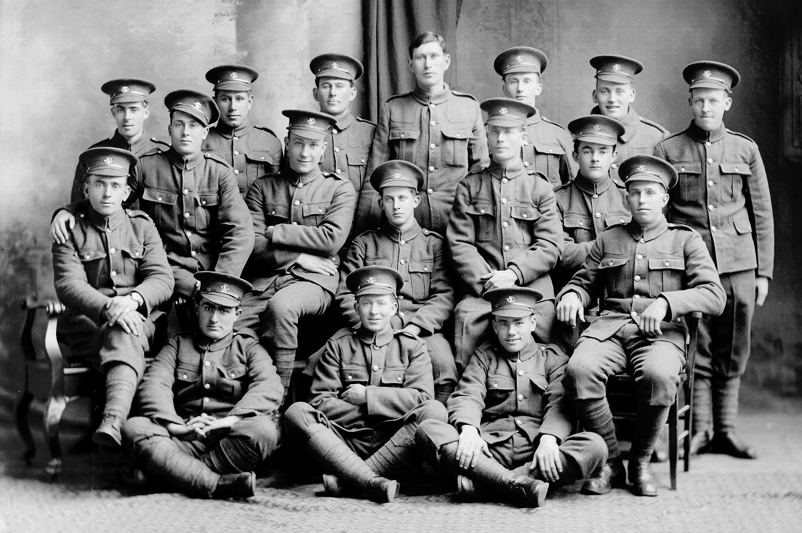Photo De Groupe Le Royal Newfoundland Regiment Au Cours